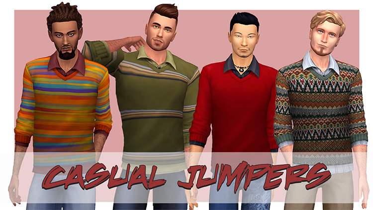 Casual Jumpers for Sims 4