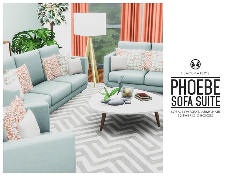 Phoebe Sofa Suite Sims 4 CC