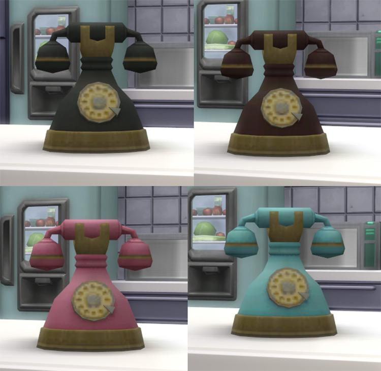 Vintage Rotary Phone Sims 4 CC