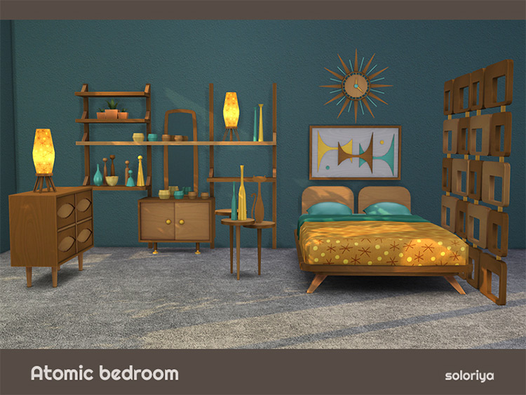 Atomic Bedroom for Sims 4