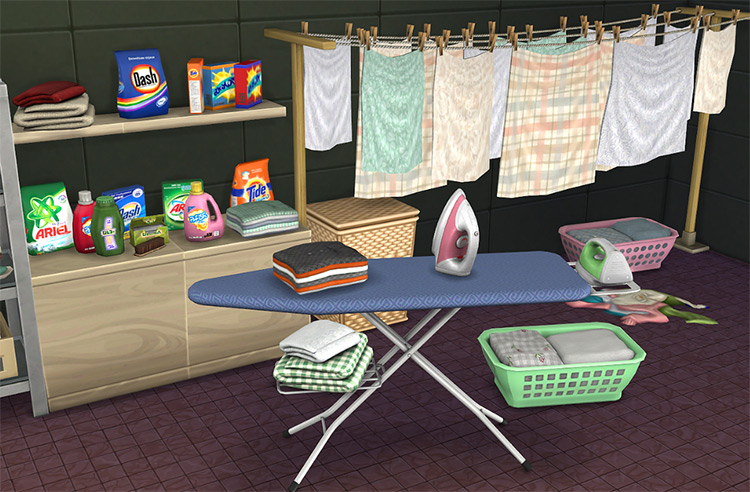 Laundry Set Sims 4 CC