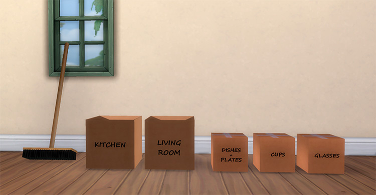 Moving Out Box Collection / Sims 4 CC