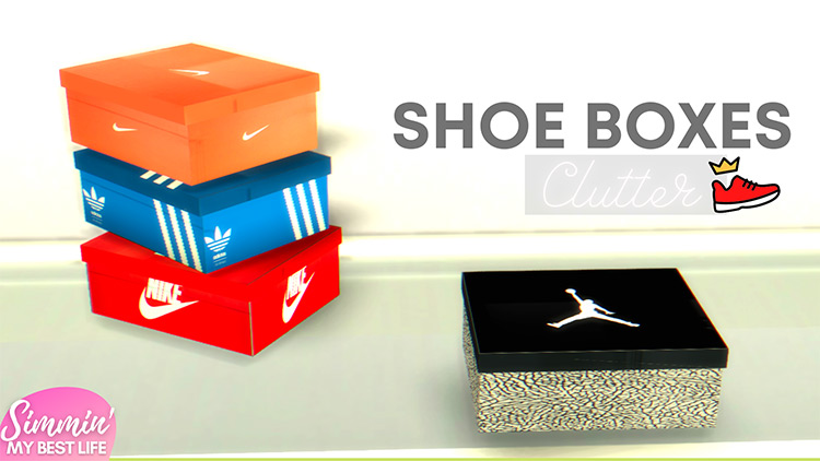 Shoe Box Clutter / Sims 4 CC