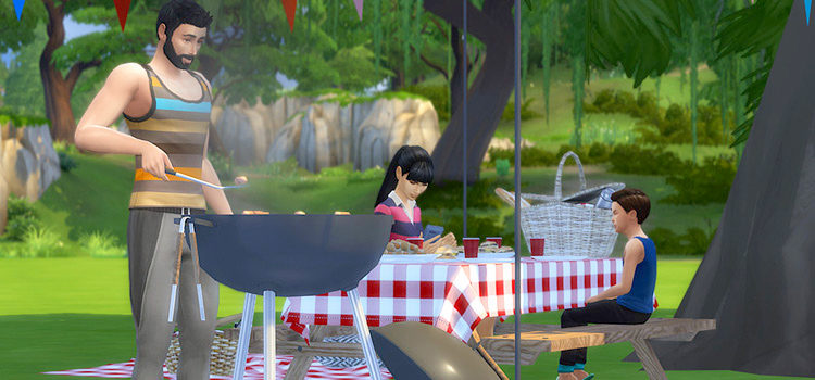 Sims 4 Picnic CC, Mods & Poses (All Free)