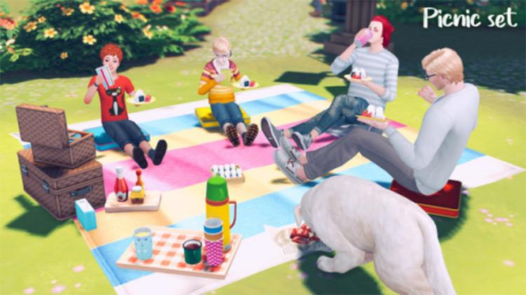 Custom Picnic Set / Sims 4 CC