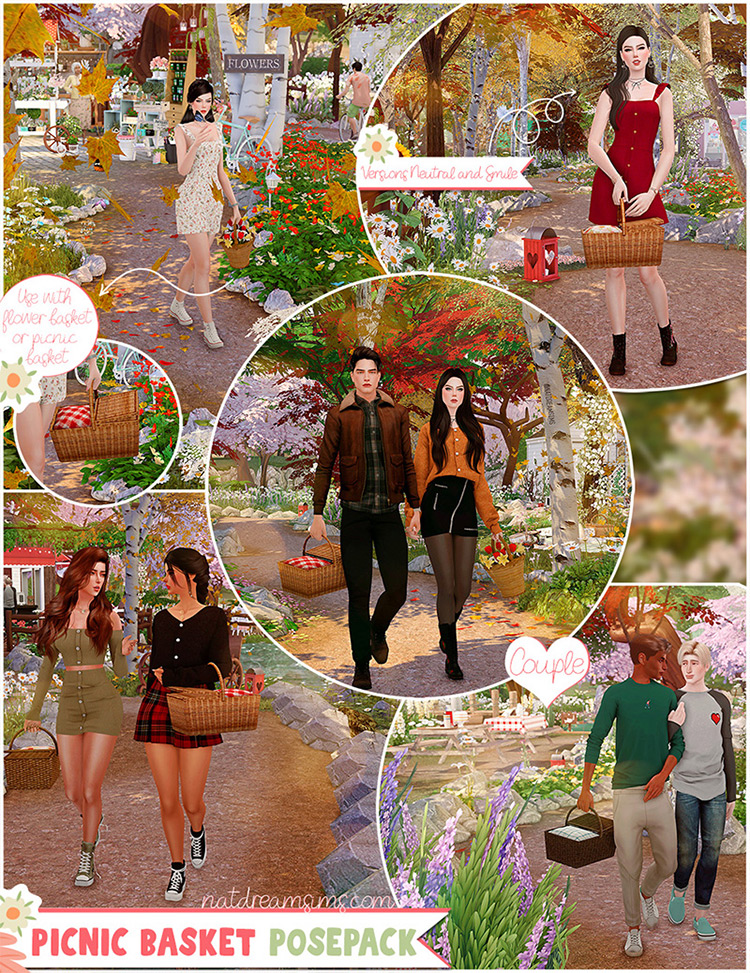 Picnic Basket Poses / Sims 4 CC