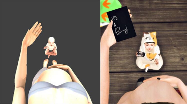 Gender Reveal Card Pose Sims 4 CC