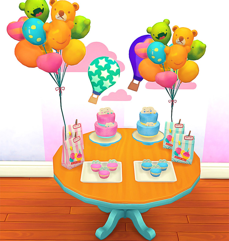 Josie Baby Shower Deco for Sims 4