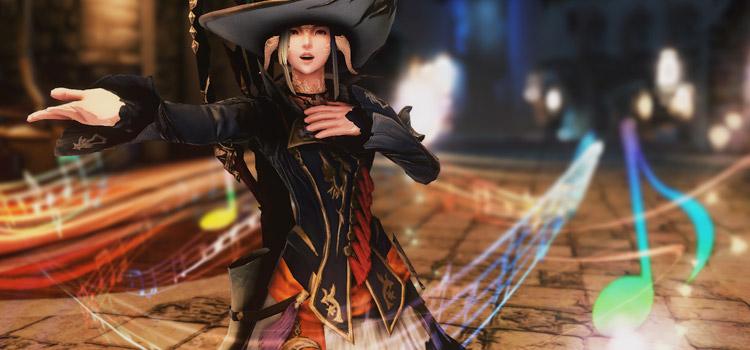 Bard Character Singing in Final Fantasy XIV