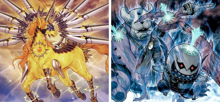 Knightmare Unicorn and Invoked Purgatrio YGO