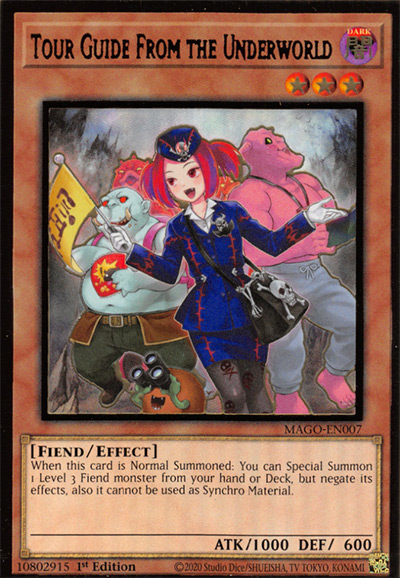 Tour Guide From The Underworld YGO Card