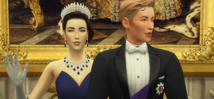 Royals Posing in The Sims 4
