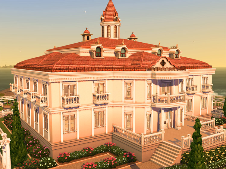 Baroque Castle for Sims 4
