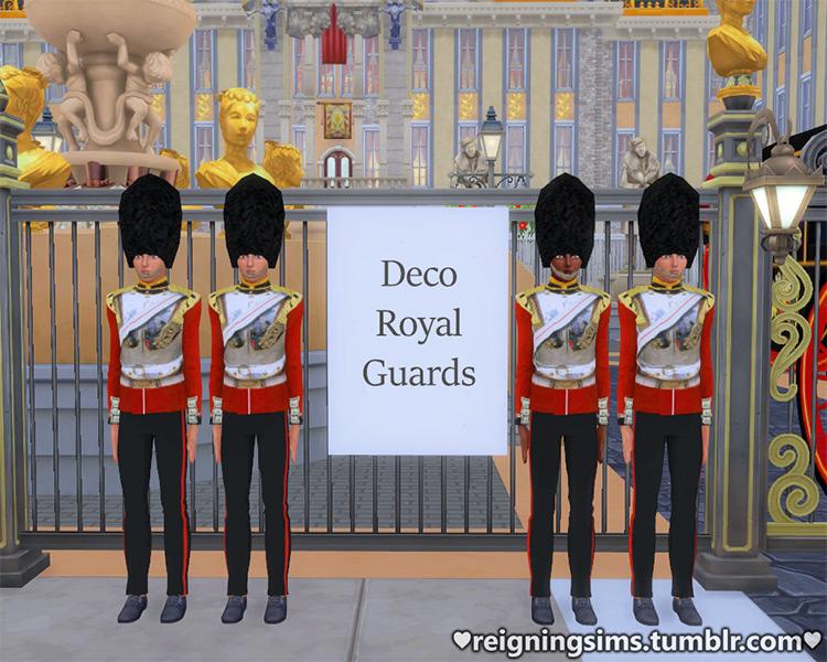 Deco Royal Guards TS4 CC