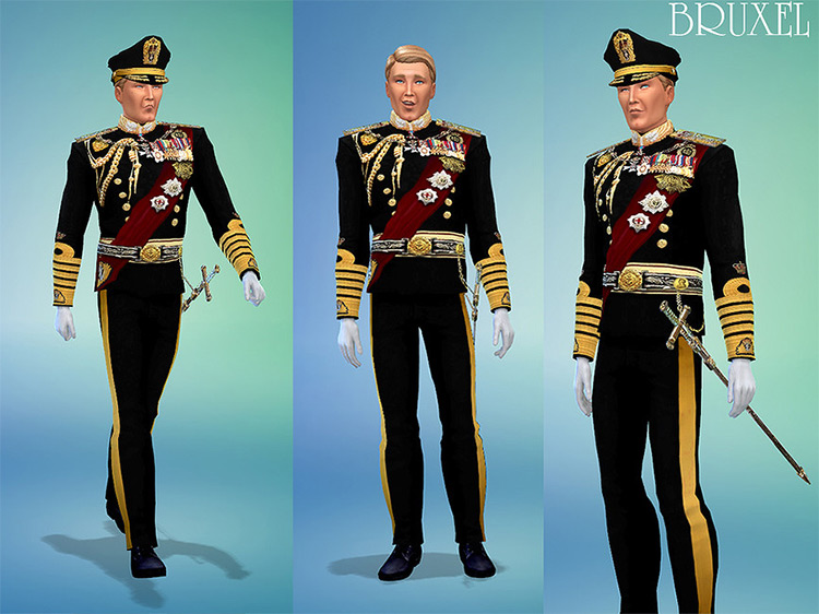 Ceremonial King Outfit Sims 4 CC