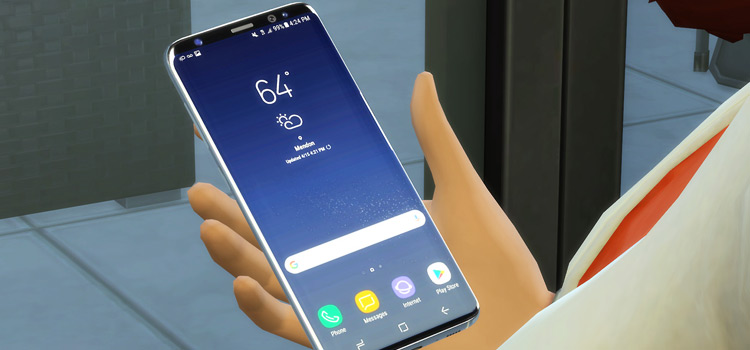 Samsung Galaxy S9 Mod for The Sims 4