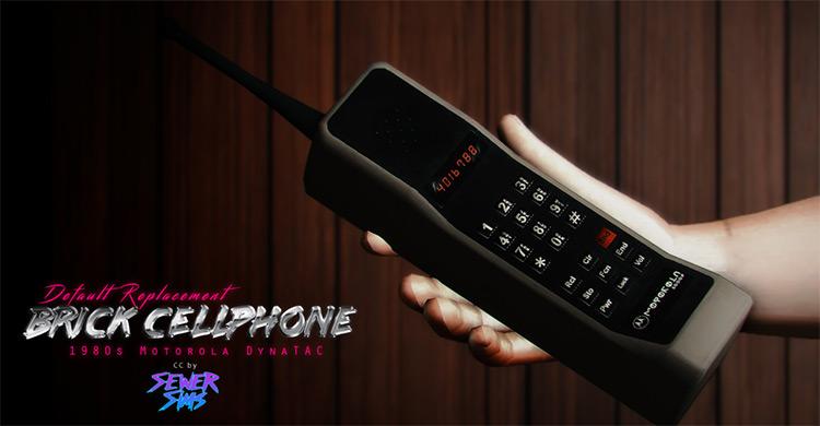 Totally Rad Brick Phone Sims 4 CC