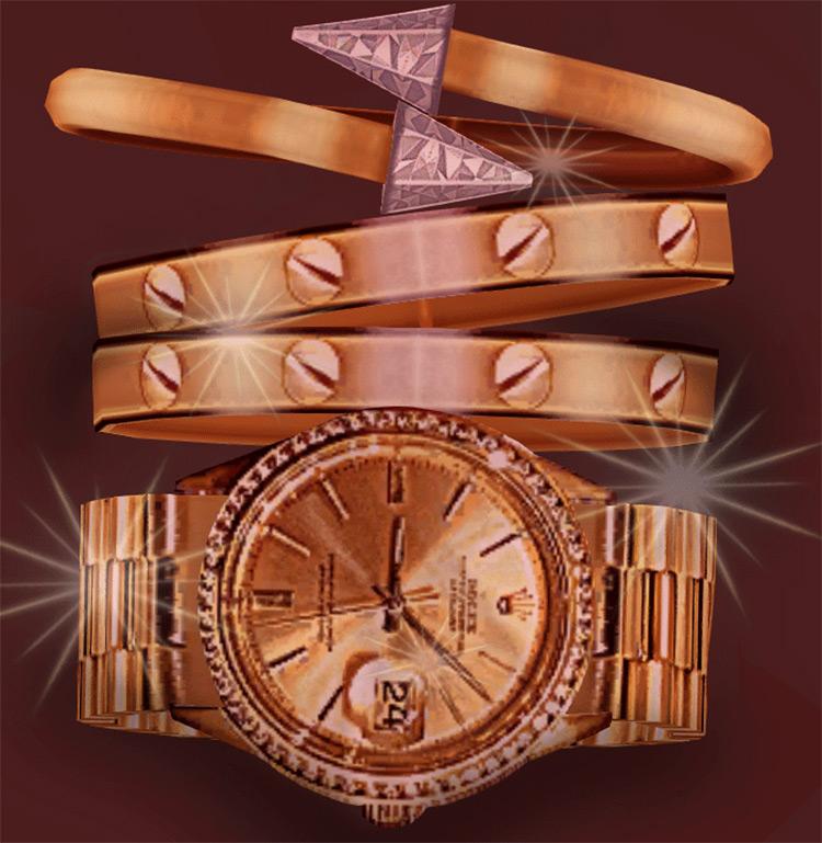 BLS Watch & Bracelet Set for Sims 4