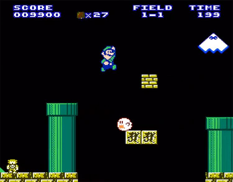 Luigi's Chronicles NES Hack
