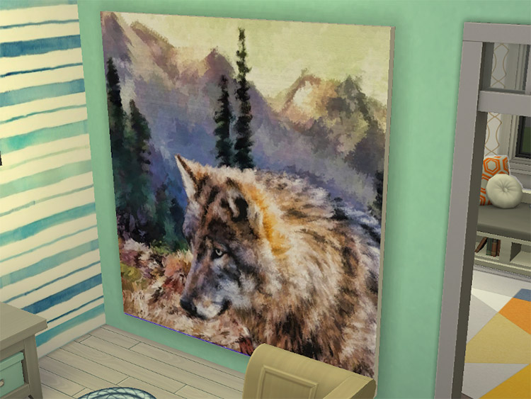 Wolf Painting CC for The Sims 4