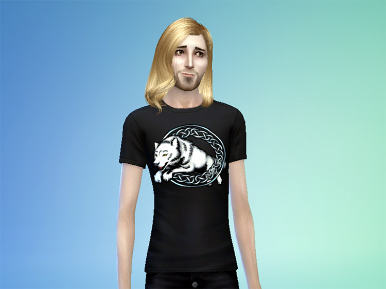 Leaping Wolf Guys t-shirt in TS4