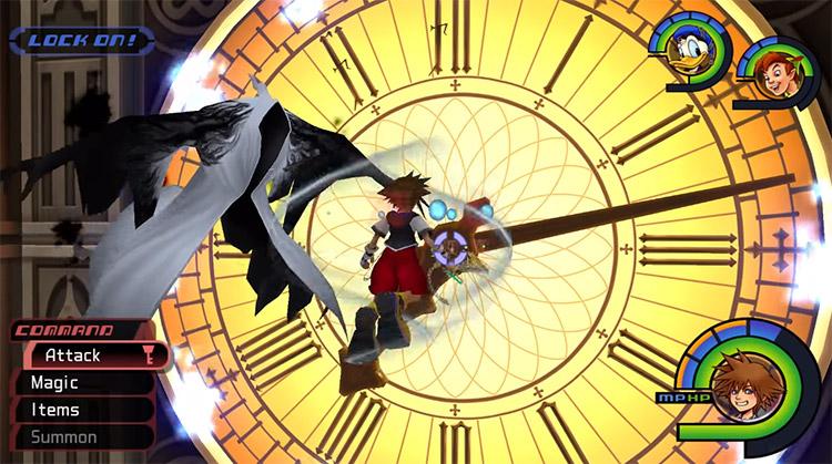 Phantom Clock Tower Battle in KH 1.5