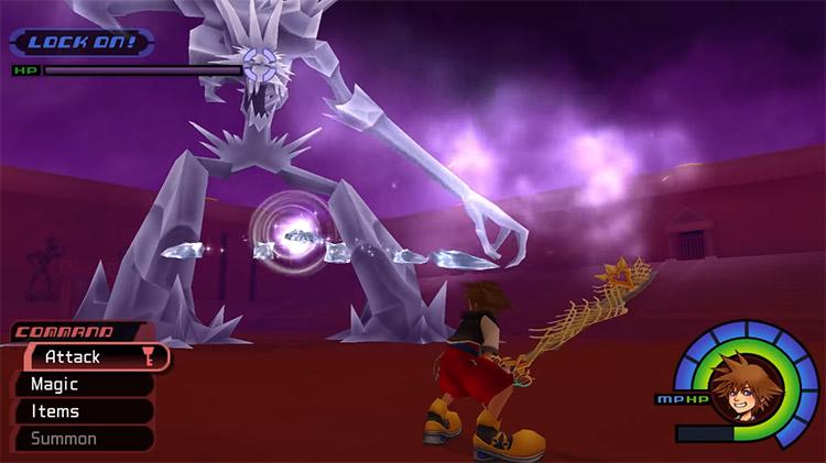 Ice Titan Battle in KH 1.5