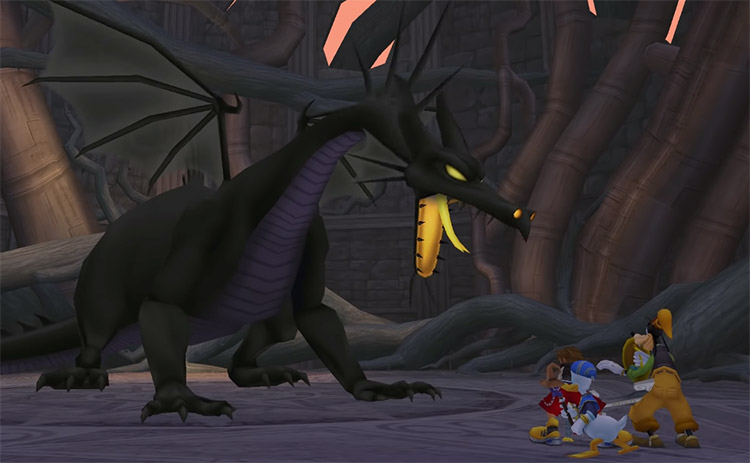 Dragon Maleficent Battle in KH 1.5