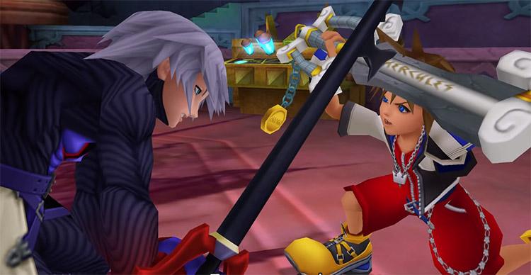 Dark Riku Boss Fight in KH 1.5