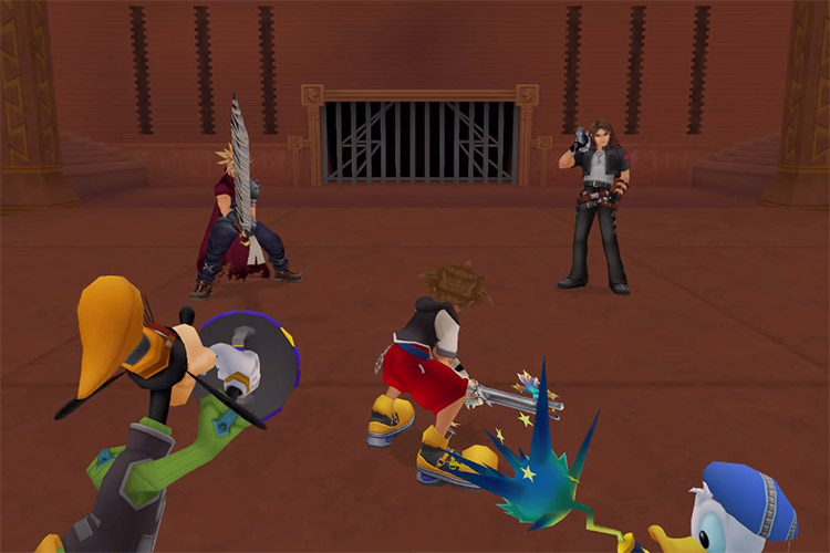 Cloud and Leon Olympus Fight in KH 1.5