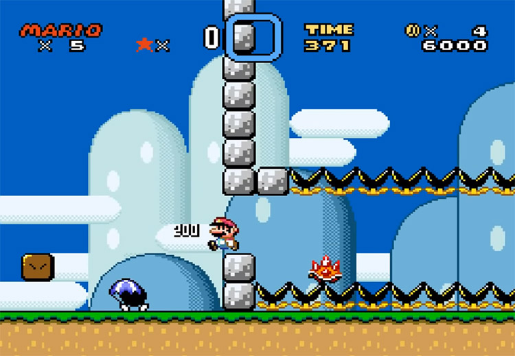 Kaizo Mario World Romhack Screenshot