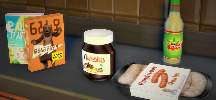 Sims 4 Food Clutter with Nutella and Cereal