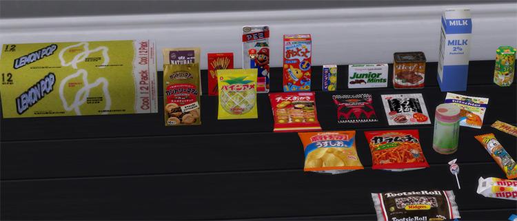 Junk Food Haul Sims 4 CC