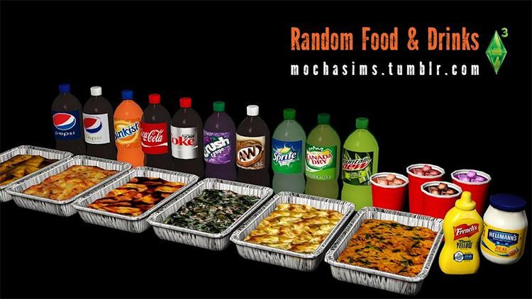 Random Food & Drinks TS4 CC