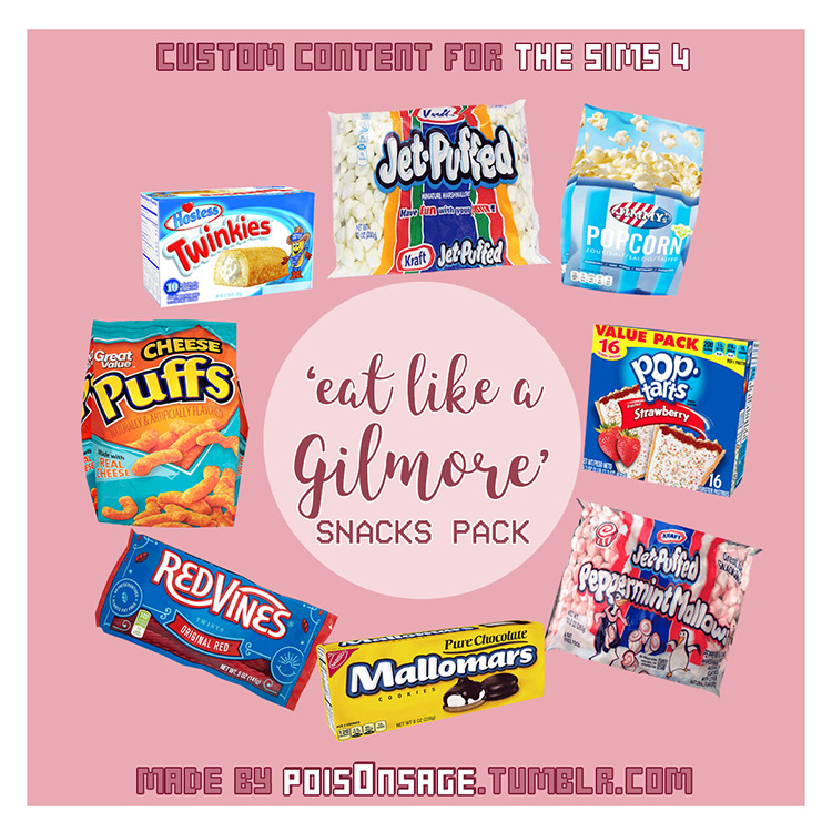 Snacks Pack Sims 4 CC