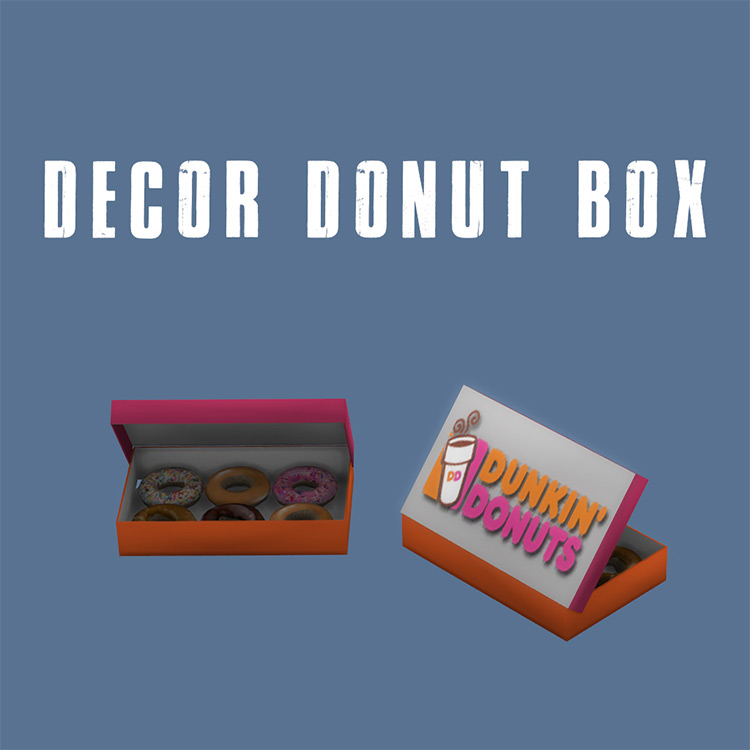 Decor Donut Box TS4 CC