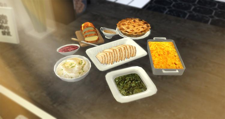 Thanksgiving Spread Sims 4 CC