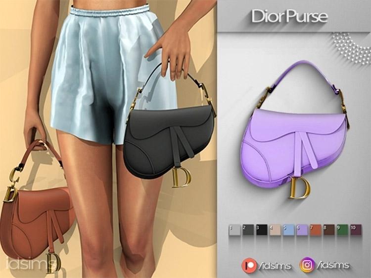 Dior Purse CC for The Sims 4