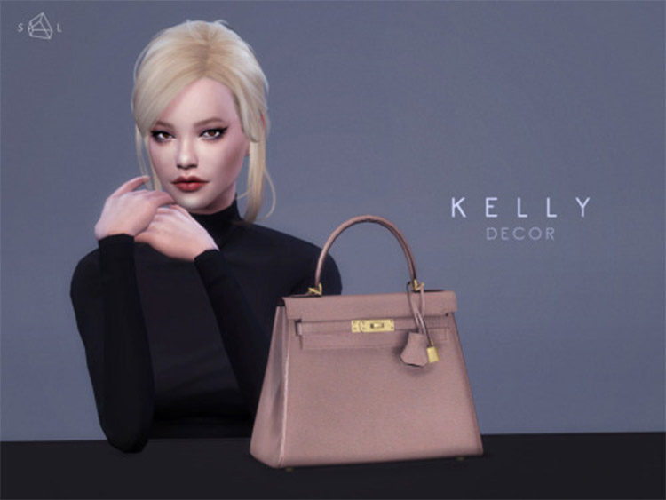 Custom Hermes Kelly Purse Bag for The Sims 4