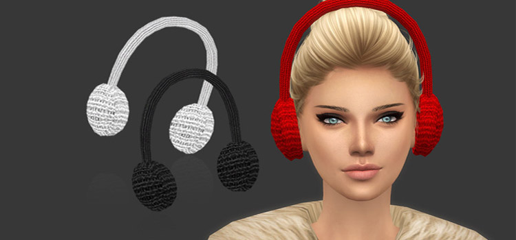 Knitted Snowflake Earmuffs CC for TS4