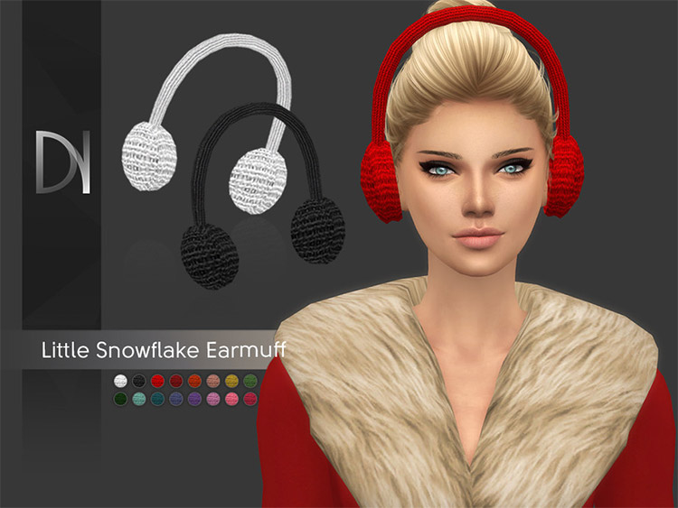 Custom knitted earmuffs CC for Sims 4