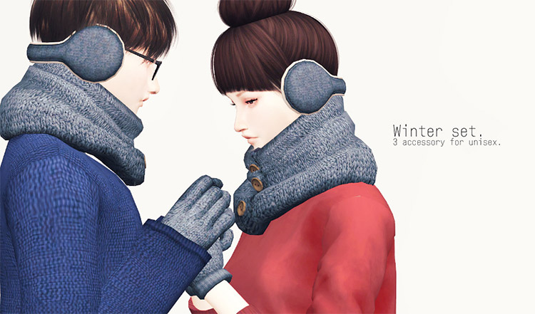 Winter accessories with earmuffs CC