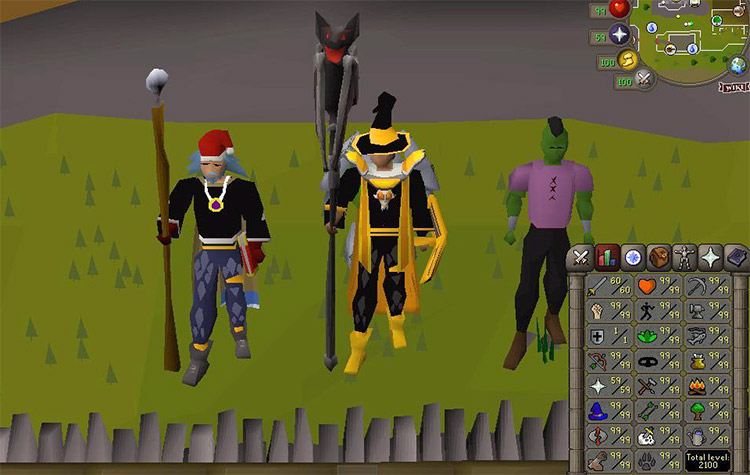 Level 99 Maxed Combat Pure in OSRS