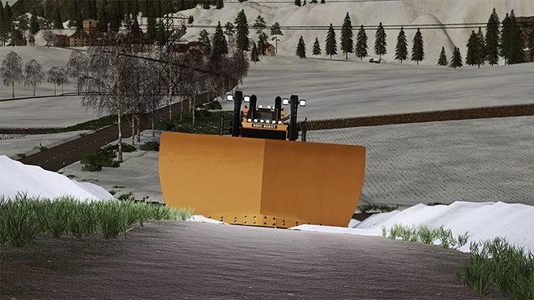 NMC Dozer Snowplow Mod for FS19
