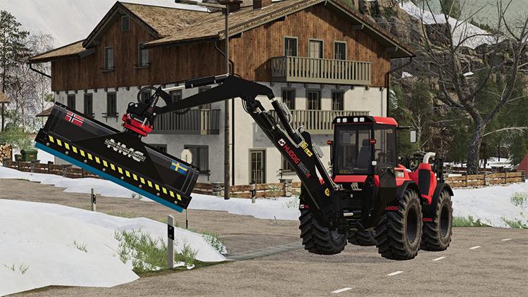NMC Backhoe Snowplow FS19 Mod
