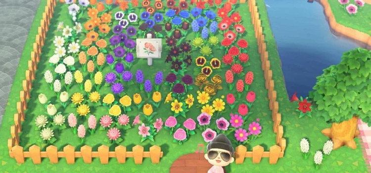 40 ACNH Flower Bed & Garden Design Ideas