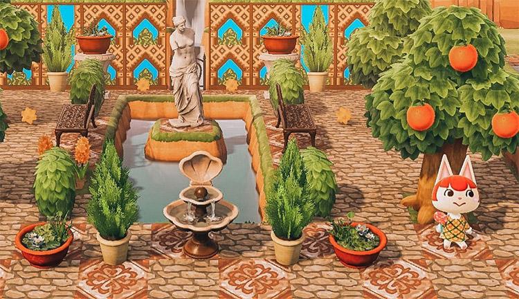 ACNH Gardens of Alhambra Design