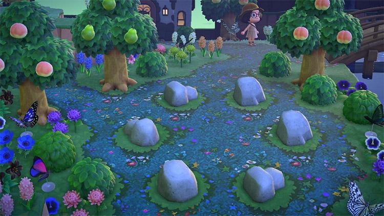 Fairy rock garden idea in ACNH