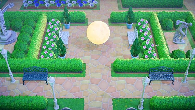 ACNH Moonlit garden square idea