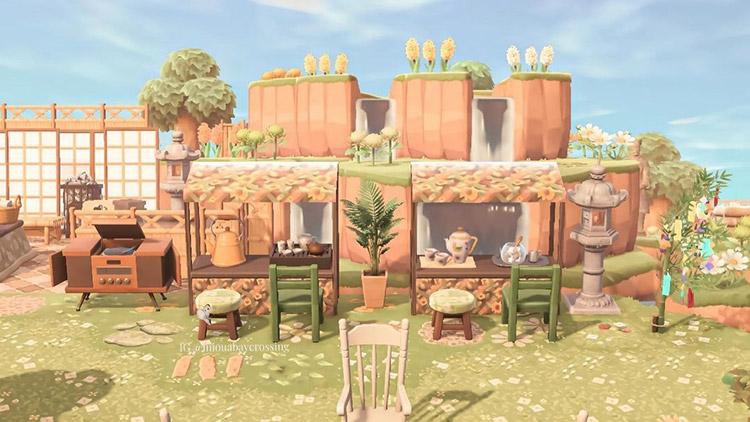 Garden cafe design idea in ACNH